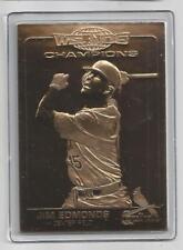Jim Edmonds 2007 Danbury Mint Cardinal World Series Sealed 22 Kt Gold Card