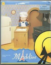 Madeline 8 Inch Doll Kitchen Set Stove Refrigerator Sink Old House in Paris New