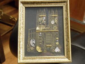 DAVID OF LONDON (ORIGINAL) HOROLOGICAL MONTAGE TOWER BRIDGE LONDON WATCH PARTS