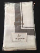 NEW FRETTE Cotton Euro Sham Gray White