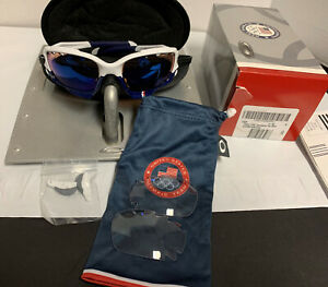 Oakley sunglasses Jawbone TEAM USA Polished White G30 Iridium & Clear 24-300