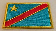 Ecusson Patch Congo Kinshasa  - drapeau - 5cm X 9 cm - Livraison gratuite