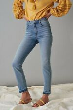 Pilcro By Anthropologie Mid Denim Blue High Rise Cigarette Jeans - Size 28W