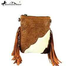 Montana West Handbag Western Style  Cowgirl Bling Purse Brown crossbody fringe