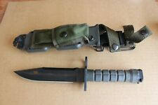 VINTAGE 1993 BUCK 188 M9 BAYONET FIXED BOWIE KNIFE PHROBIS w/ BIANCH SHEATH