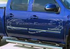 "2009-2013 Chevy Silverado Crew Cab Body Side Molding Overlay Trim Top 1"" Cover"