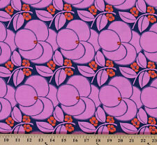 Cotton Amy Butler Hapi Heart Bloom Flowers Pink Cotton Fabric Print BTY D302.12