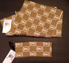 Michael Kors Camel MK Scarf And Headband Gift Set $96