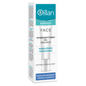 Oillan Balance Hydro Active Eye Gel Dry & Dehydrated Skin Reduces Swelling 15ml