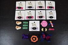 Lot of 21 New Baby Hair Clips and Bows: Pea Soup Accessories