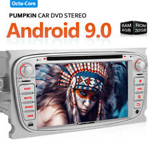 Android 9.0 Car Radio DVD DAB GPS SWC WiFi 4GB 32GB For Ford Focus Mondeo Galaxy