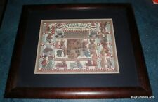 "Antique Bear Collectibles Framed Art Signed Eavenson 953 Print 23"" X 19"" GIFT"