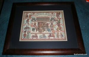 """Antique Bear Collectibles Framed Art Signed Eavenson 953 Print 23"""" X 19"""" GIFT"""