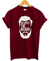 T-SHIRT unisex Respect The Beard -  maglietta 100% cotone cool uomo barba