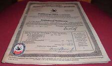 alt versicherungsschein kfz / magirus  lkw  berlinische feuer versicherung 1937