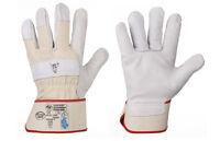 Arbeitshandschuhe Leder weich Lederhandschuhe Stierkopf von StrongHand Gr. 8-13
