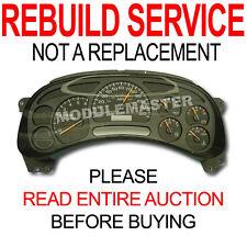 03 04 05 06 Chevy Chevrolet Silverado Tahoe Instrument Cluster REBUILD REPAIR