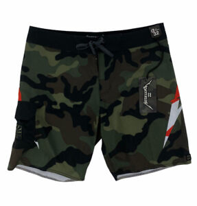 NEW Billabong x Metallica Andy Irons Camouflage Mens Board Shorts Green Brown