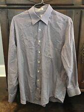 Peter Millar Purple & Black Houndstooth Long Sleeve Shirt Men's Large L