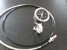 """Yamaha SR500 XT500 TT500 Oil Pressure Gauge Kit  22mm 7/8"""" handlebar mount"""