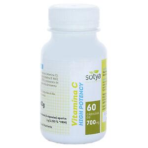 VITAMINA C 500 mg - 60, 120, 180 o 300 Capsulas - Sotya