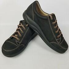 Finn Comfort Black Suede Leather Walking Shoes Sneakers Womens Sz 6.5