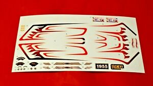 AMT 1955 Chevy Bel-Air Decal Sheet 1/16