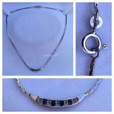 d075be4d65c3 Collar 835 plata con Azul Piedras Joyería Plata Cadena de plata 42cm