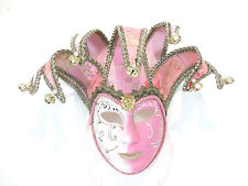 PINK WHITE FEMALE JOLLY VENETIAN MASQUERADE MASK MARDI GRAS CARNEVAL PARTY C26