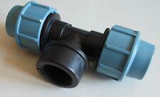 """PE Rohr Klemmfitting T-Stück 1"""" Innengewinde 25mm Wasserleitung Verbinder"""
