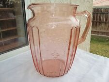 "Pink Mayfair Open Rose 8½"" Tall 80 oz. Pitcher"