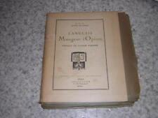 1920.anglais mangeur d'opium / Musset.ex.HC sur papier vert avec suite in fine