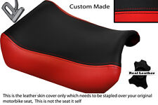 RED & BLACK CUSTOM FITS SUZUKI GSXR 1100 89-98 FRONT LEATHER SEAT COVER
