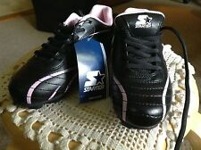 """New Starter All Purpose Cleats, """"Perform"""", Black and Pink, Girls Size 4"""
