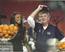 Paul Johnson Georgia Tech Yellow Jackets Signed 8X10 Photo W/Coa #4