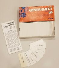 American Government Summary Cards by Vis-ed