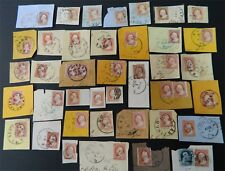 #25, 26A, 11, 11A, 24....x42....cut corners with 42 stamps....nice stamps, dates