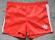 Original Adidas Sprinter Shorts 80/90er Vintage Glanz Nylon Shiny Rot S/M