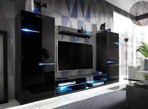 Living Room High Gloss Furniture  full Set Display Wall Unit Modern TV Cabinet