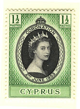 CYPRUS 1953 CORONATION BLOCK OF 4 MNH