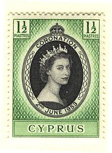 CYPRUS 1953 CORONATION BLOCK OF 4 MNH