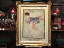 "Early 1900's LA FLOR DE ERB Cigar Framed Ad ""Watch Video"""