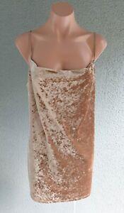 ❤️ BNWT BARDOT Cocktail Velour Slip Dress Sand Size 12 Buy7=FreePost L878