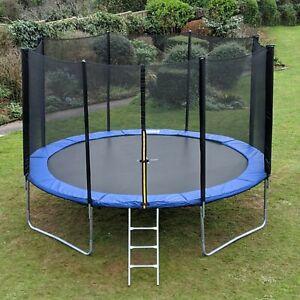 Fit4home™ Trampoline 8FT 10FT 12FT with Enclosure Safety Net Ladder Garden UK