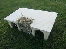 Guinea Pig/ Small Rabbit House/ Shelter/ Tunnel With Hay Rack/ 20'' x 13''x 6''