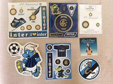 7 ADESIVI INTER INTERNAZIONALE F.C. CALCIO PUFFO CLUB RAPALLO BOLLINI PER TARGHE