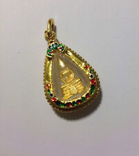 QUALITY Authentic Thai Buddhist Amulet Gift Pendant Good Luck Love &Protection L