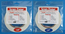 """Scor-Tape Adhesive 1 each 1/8"""" & 1/4"""" x 27yd by Scor-Pal - Value!"""