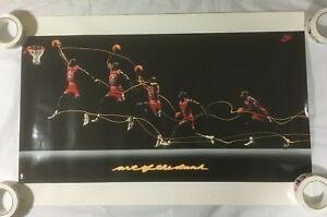 Art Of The Dunk Michael Poster Jordan Nba Basketball Chicago Bulls Reprint