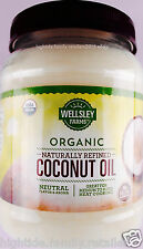 Wellsley Farms Coconut Oil Naturally Refined 100% USDA Organic, 56 FL. OZ.
